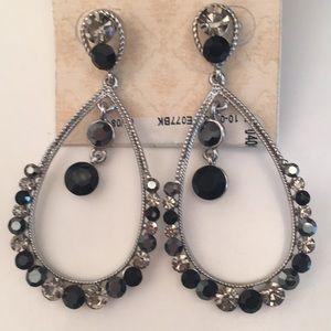 ✨BIV New Crystal Chandelier Earrings Gray & Black
